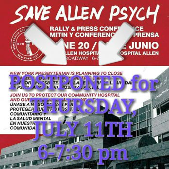 Save Allen Psych – Expand Mental Health Care in NYC